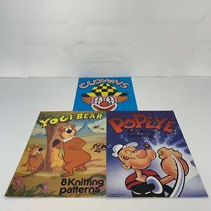 Vintage Children's Cartoon Knitting Patterns 4 Ply 1980s Gary Kennedy Yogi Bear