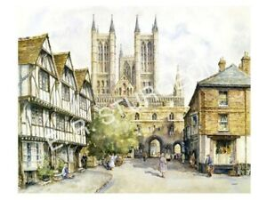 Lincoln Cathedral Watercolour Signed Limited Edition Art Print, By Sturgeon