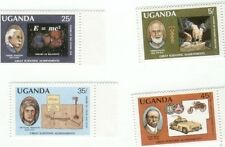 Uganda 1987 - Great Discoveries - Albert Einstein - Famous men - set of 4 MNH