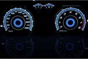 02-08 HYUNDAI COUPE glow gauges reverse black KMH indiglo tachoscheibe plasma