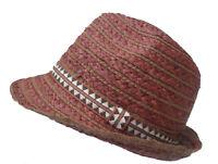 homme chapeau de paille naturelle Trilby déformable protège-soleil récolte