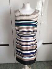 Monsoon Striped Dress Pencil Sleeveless Size 18