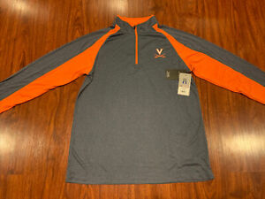 Colosseum Men's Virginia Cavaliers Football Lightweight 1/4 Zip Jacket Large L