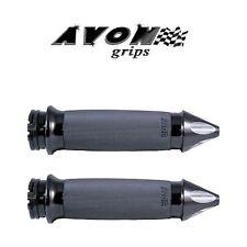 Avon Custom Contour Black Spike Motorcycle Grips Cruiser Ultra Electra Glide
