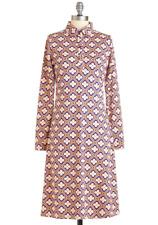 ModCloth 1960s Vintage Retro Smashed Lemon Midi Coat Dress Medium, EUR 38 NWT