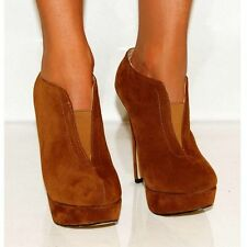 Unbranded Faux Suede Slim Heel Ankle Boots for Women
