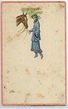 Donnina Elegante con Cavallo ART DECO Horse Lady PC Circa 1920 2