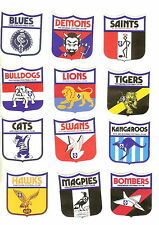 RARE FULL VFL SET 1975  FOOTBALL Book Stickers LICK AND STICK TYPE 55MMX55MM
