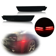 SS Brilliant Red Smoked Rear Side Marker LED Lights For Chevrolet Camaro 2010-15