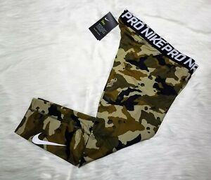 NEW Nike Pro Dri-FIT 3/4 Training Tights Camo Green Men's Size M (AQ1197-395)