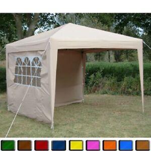 Pop-Up Klappzelt 2x2m Tent Garden Tent Ink 4 Seitenteile&tasche