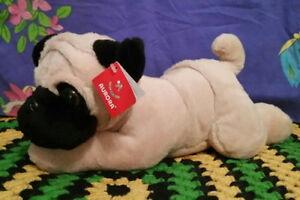 **Very cute 30cm laying plush PUG puppy by Aurora**