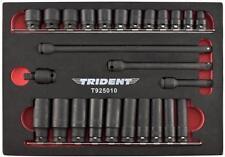 """Trident 26pc impacto Socket Set 3/8"""" Dr Standard & profundo con las extensiones y U/J"""