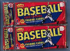 1983 Fleer Baseball Grocery Rack Packs two (2) pack lot 45 cards each