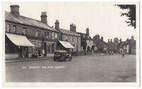 SANDY Bedfordshire, Market Square, Old Car, RP Postcard, Unused