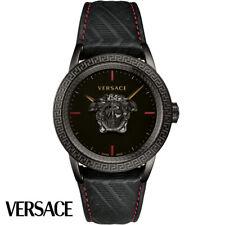 Versace VERD00218 Palazzo Empire schwarz Leder Armband Uhr Herren NEU