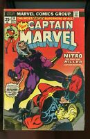 Captain Marvel #34, VG 4.0, Last Jim Starlin Issue; 1st Appearance Nitro; MVS