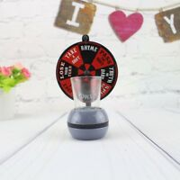 Spinner Spin The Shot Turntable Glass Alcohol Drinking Game Roulette Toy Party