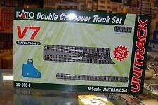 N Kato Unitrack 208661 * V7 Double Crossover Track Set * NIB