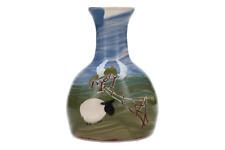 A Caroline Smith studio pottery sheep vase Abbot Pottery Devon