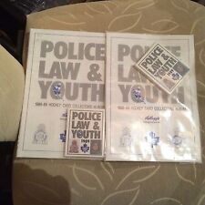 1988-89 Kellogs London Police Law & Youth Toronto Maple Leafs Cards And Album