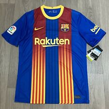 More details for fc barcelona home / el clasico genuine nike shirt mens medium bnwt new