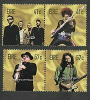 Ireland-Irish Rock Legends-2002-U2-Gallagher-Thin Lizzy-Van Morrison-mnh set