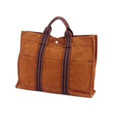 HERMES tote bag Furutu cotton canvas Auth used T17636