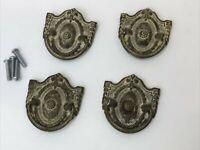 4 Vtg Antique Brass Tone Drawer Pull Drop Bail MCM Dresser Handle Victorian Deco