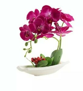 Louho Artificial Phaleanipsis Silk Orchid Arrangement.