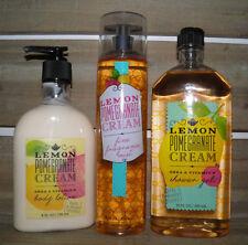 Bath & Body Works Lemon Pomegranate 3 PC SET  Shower Gel Mist Body Lotion New