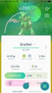 Pokemon Shiny Scyther Go Same Day Trade Or 30 Day