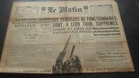 JOURNAL LE MATIN MERCREDI 16 OCTOBRE 1940 N°20.657 BE
