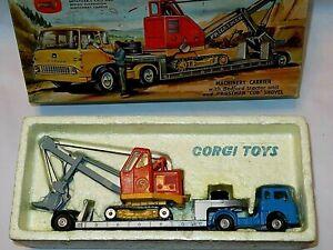 CORGI GIFT SET 27 MACHINERY CARRIER & CUB SHOVEL.SMART SET,NICE MODELS.GOOD BOX