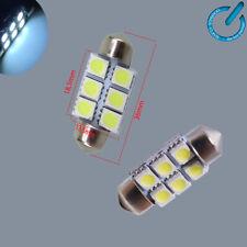 x2 BOMBILLA led lamp bulb 36MM 6LED SMD FESTOON C5W 5050 MATRICULA lampara luz