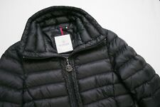 Moncler Vanneau Black Down Long Zip Coat Winter Jacket Authentic Womens 1 Small