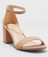 6613afe7af7 Women s Michaela Mid Block Heel Pump Sandals a Day Taupe Size 7