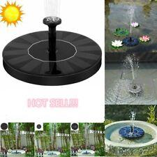 Solar Powered Water Pump Floating Bird Bath Fountain Outdoor Garden Pond Pool