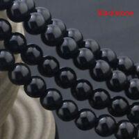 """Stone Natural Beads Tourmaline For Genuine Gemstone Jewelry Black Making 15"""""""