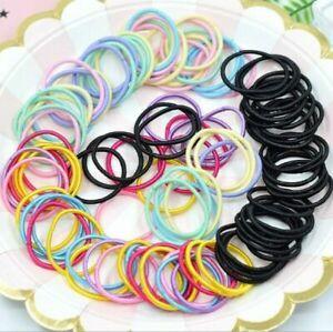 50pcs Kids Girl Lady Elastic Rubber Hair Bands Ponytail Holder Rope