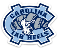 UNC University of North Carolina Rameses the Ram NC Logo type Tar Heels Magnet