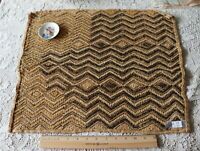 "Antique African (Congo)Tribal Kuba Cloth Fabric~Handwoven Ethnic Design~17""X19"""