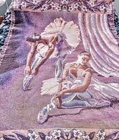 "Goodwin Weavers Ballerina Woven Fringed Cotton Throw Blanket Tapestry 48""x70"""