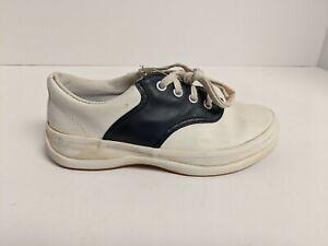 Keds Kids School Days II Sneaker, White/Navy, Girls 13.5 M