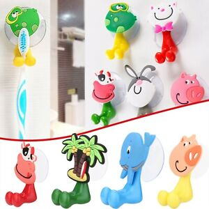3D Cartoon Animal Cute Sucker Toothbrush Wall Holder Suction Cup Bathroom