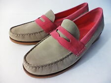 COLE HAAN CLASSIC TAUPE & PINK LEATHER PENNY LOAFER SHOE WOMENS 5.5M INDIA
