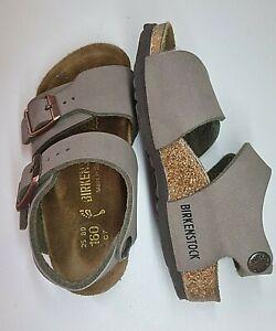 BIRKENSTOCK New York Brown infant Leather sole sandals - Size UK 8 - EU 25