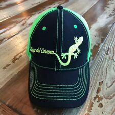 """Playa del Carmen""  Ball Hat Cap, Trucker style. New. Lime Green/Black. Mexico"