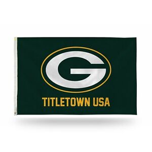 Green Bay Packers PREMIUM Authentic Official 3x5 Indoor/Outdoor Flag Banner NWT