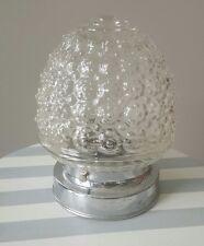 Bubble Glass Flush Ceiling Lamp Light Foyer Bathroom Vintage Mid Century Retro